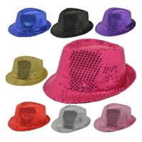儿童亮片帽男女爵士帽 礼服帽子 舞台演出表演帽演出新春礼帽