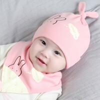婴儿帽子秋冬0-3-6-12个月帽子男女宝宝帽保暖满月胎帽秋冬