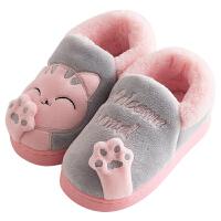 儿童棉拖鞋男女童包跟冬季加绒保暖室内家居1-3岁婴幼儿宝宝棉鞋