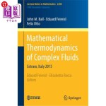 【中商海外直订】Mathematical Thermodynamics of Complex Fluids: Cetr