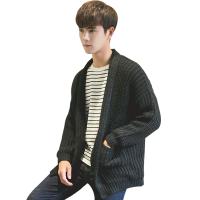 2018春秋季情侣BF风新款学生针织开衫韩版男毛衣外套潮流男装外穿