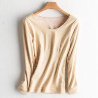保暖内衣女加绒加厚保暖衣上衣冬季美体紧身单件长袖秋衣打底衫