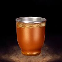 佛前供水杯铜合金日式茶杯家用供奉财神水杯关公酒杯佛具用品