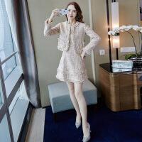 2018新款女装套装2018新款女气质秋季时尚两件套港风外套复古名媛小香风粗花呢套