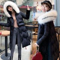 女中长款2019韩版修身过膝冬装外套加厚棉袄棉衣