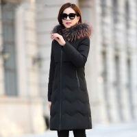 羽绒服女中长款2019冬韩版修身加厚貉子毛领时尚外套潮