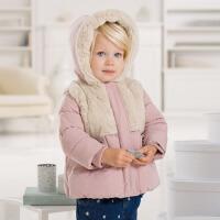 davebella戴维贝拉女童宝宝冬季新款婴儿保暖棉衣外套【限时折扣139元】