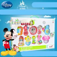 迪士尼婴幼儿牙胶手摇铃套装 0-1岁早教益智新生儿宝宝礼盒玩具 10只装礼盒 8只礼盒装