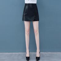 皮裙裤女2019春夏季新款韩版高腰显瘦短款pu皮短裤外穿a字裤靴裤