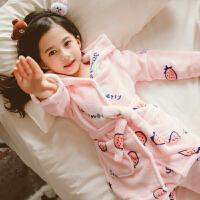 女童珊瑚绒睡衣秋冬款儿童法兰绒大童女孩家居服宝宝冬季厚款公主