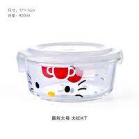 长方形耐热透明玻璃碗饭盒保鲜碗便当密封盒微波炉专用冰箱收纳盒