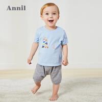 【2件3折价:45.6】安奈儿童装婴童夏季套装2020新款1-2岁婴幼儿纯棉两件套宝宝套装