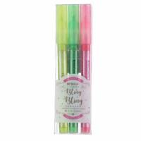 晨光2502闪亮珠光荧光笔 学生单头重点标记记号笔 彩色涂鸦笔