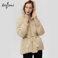 【商场同款】伊芙丽新款冬装外套连帽加厚羽绒服1AA280391