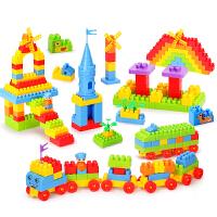 儿童玩具 大号积木大颗粒拼装拼插 启蒙diy收纳盒袋装男孩女孩1-3-6岁礼物