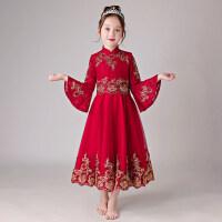 儿童礼服公主裙女童蓬蓬纱花童钢琴演出服小主持人晚礼服走秀秋冬