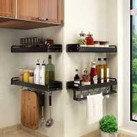 厨房置物架免打孔壁挂式家用调味料用品大全刀架挂架微波炉收纳架