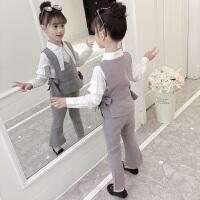 女童洋气套装秋装2018新款韩版秋季休闲小女孩时髦时尚三件套潮衣