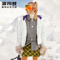波司登女士短款羽绒服2018冬季新款时尚宽松厚外套B80142568DS