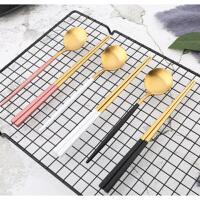 餐具套装 不锈钢便携餐具套装勺叉筷三件套成人学生餐具套装