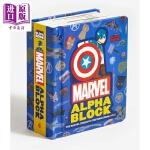 【中商原版】漫威英雄字母立体书 Marvel Alphablock 儿童英语启蒙 儿童读物 英文原版