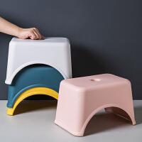 日式加厚塑料方凳儿童矮凳客厅小板凳家用成人换鞋凳浴室防滑凳子
