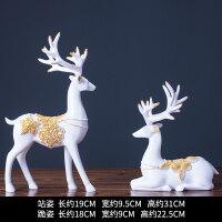 鹿摆件北欧式家居家装饰品客厅新婚结婚礼物酒柜创意电视柜1