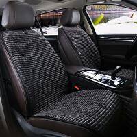 汽车加热坐垫冬季座垫 汽车加热坐垫冬季电加热12V24V通用车载单双座椅电热毛绒保暖座垫 前后五座-黑色-12V(加热