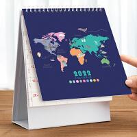 2021年台历创意简约桌面摆件月历定制工作打卡小日历计划本式可爱2020办公小清新ins风日历记事本牛年台历本