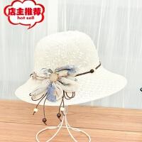 帽子女2018新款草帽可折叠大沿渔夫帽户外出行遮阳太阳帽批发