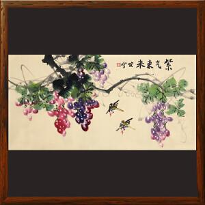 《紫气东来》安宁 中国书画学会理事R3865