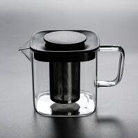 家用大小号方形玻璃煮茶壶内胆过滤花茶煮茶泡茶壶茶杯套装