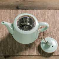 汝窑过滤茶壶陶瓷单壶家用大号功夫茶具带内置滤网红茶容量泡茶器