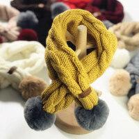 儿童围巾春秋冬季婴儿针织韩版男童女童宝宝百搭保暖小孩毛线围脖