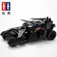 双鹰儿童咔搭回力车积木狂野战车拼装益智积木玩具车模