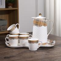 陶瓷水杯套装家用冷凉水壶套装耐高温茶杯套装家用欧式杯具杯子
