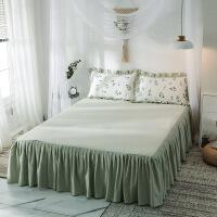 全棉床裙单件床裙式床罩纯棉床罩床套床笠1.8m花边床单防滑保护套