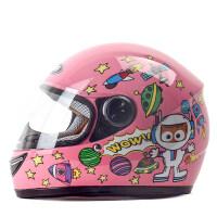 儿童电动车头盔4至6岁 野马冬季电动摩托车儿童头盔女孩小孩全盔女童女生头灰冬天安全帽 均码