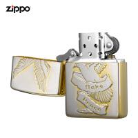 zippo芝��打火�C美��正版原�bZBT-3-82a和平��-白金�R面�金��y/徽章