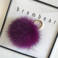 10cm毛球包包挂件车钥匙挂件毛绒装饰品挂饰小毛球钥匙扣D