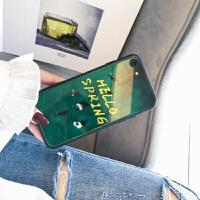 苹果8plus手机壳玻璃镜面iphone8/7/6s/x保护套男女款7p韩国防摔社会人抖音同款超薄外 iphone⑥/