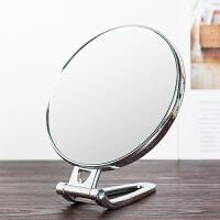 台式化妆镜子双面手柄镜便携折叠壁挂镜小镜子高清带放大美容镜子1