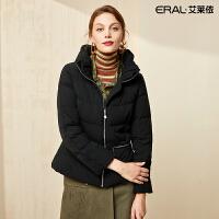 艾莱依2019冬季新款收腰时尚纯色轻薄短款羽绒服女601804076