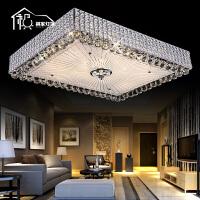 祺家 水晶LED吸顶灯平板客厅灯餐厅灯奢华卧室灯书房灯具SX05