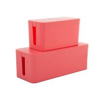 塑料收纳盒电源线线收纳盒家庭办公一大一小组合收纳盒套装两件套 0970