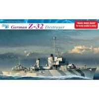 """新款模型 威龙 舰船模型 1065 1/350 二战德国海""""Z-32""""驱逐"""