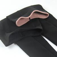 小码加绒加厚秋冬保暖打底裤 小个子女士显瘦连袜小脚裤 黑色