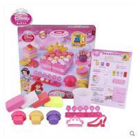 迪士尼3d打印泥甜品套装公主 打印泥彩泥橡皮泥不干无毒女孩玩具