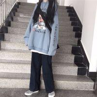 卫衣女秋季韩版宽松bf风头像卡通印花搞怪套头圆领情侣长袖外套潮