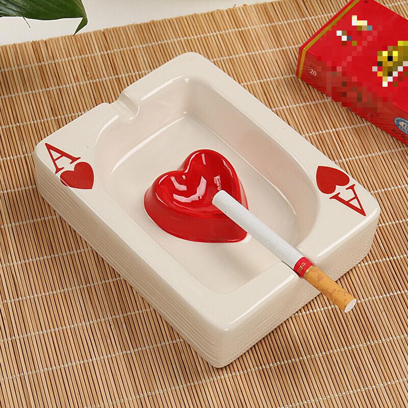 烟灰缸简约创意现代个性迷你可爱卡通扑克牌时尚客厅中式家居  购好货,上京东!购好货,来卓展!